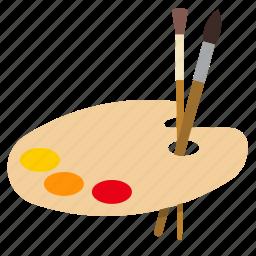 art, brush, paint, painting icon
