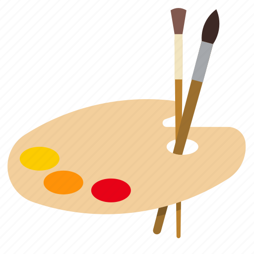 art, brush, paint, painting icon
