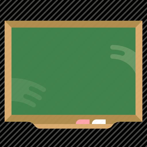 blackboard, education, green, school icon
