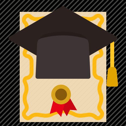 certificate, degree, diploma, graduation, masters icon