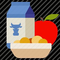 breakfast, education, food, school icon