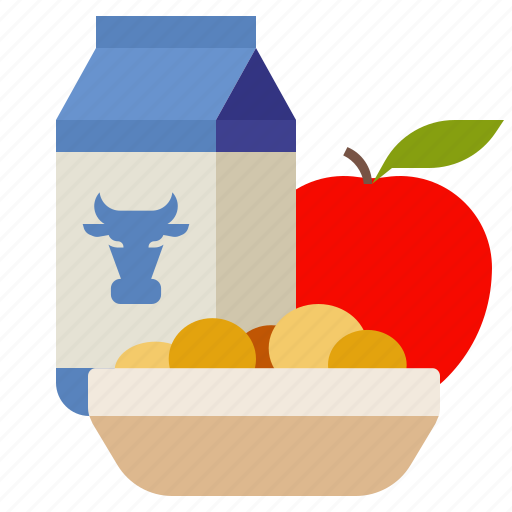 apple, breakfast, food, milk icon