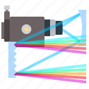 colors, physics, spectrograph, spectrum icon