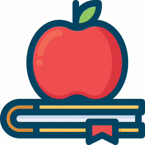 Apple, book, education, knowledges icon - Download on Iconfinder