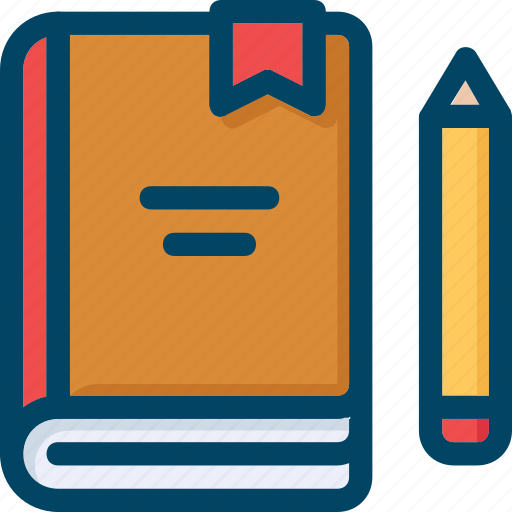 book, pencil, study, workbook, write icon