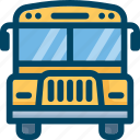 bus, school, transport, vehicle, yellow