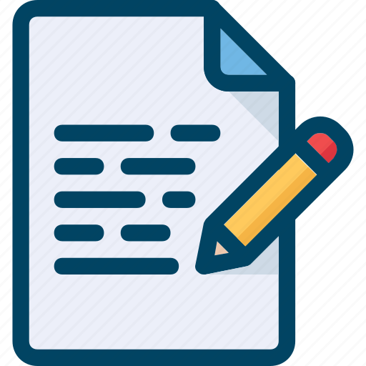 Doc, document, edit, pencil, write icon - Download on Iconfinder