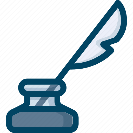 feather, ink, write, writing icon