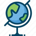 geography, globe, map, school, science icon