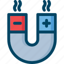 laboratory, magnet icon