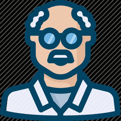 academic, avatar, person, scientist icon