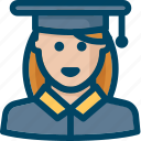 avatar, school, student, user icon