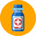 alcohol, antiseptic, bottle icon