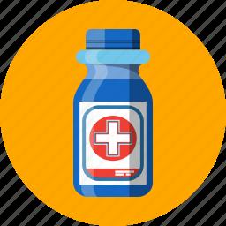 alcohol, antiseptic, bottle icon