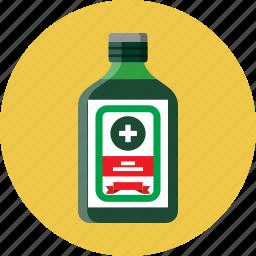 alcohol, bitter, bottle, digestive icon