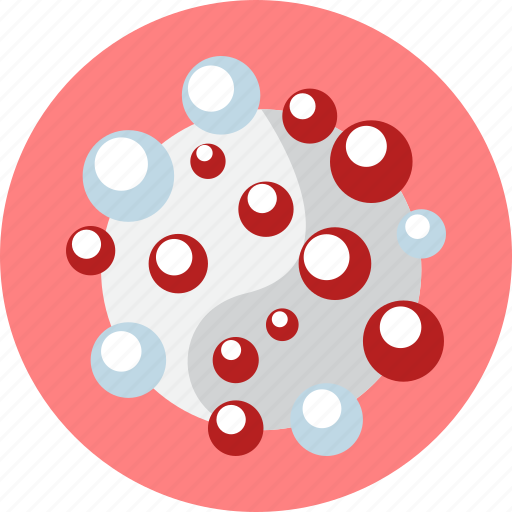 biology, blood, cells, medicine, molecule, red icon