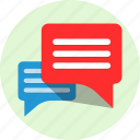 chat, conversation, row, talks icon