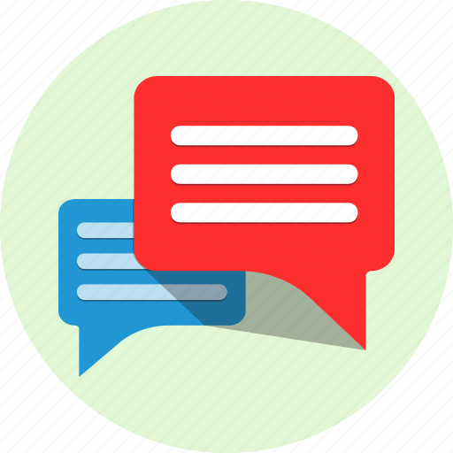 chat, conversation, row, talks icon