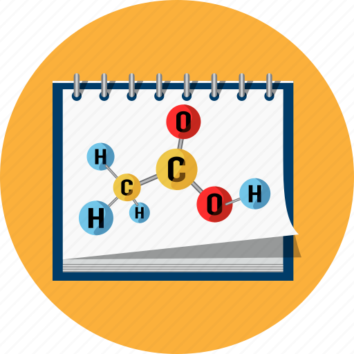 chemical, formula, molecular, notebook icon