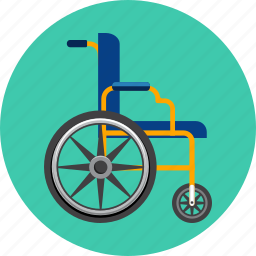 chair, disability, furniture, handicap, medicine, paralyzed, wheelbench icon