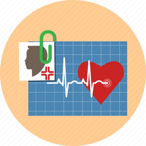 ekg, electrocardiogram, heart, heartbeat, medicine, photo icon