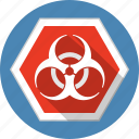 attention, caution, danger, hazard, radiation, risc, warning icon
