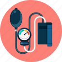 blood, doctor, health, medical, medicine, pressure, sphygmomanometer icon