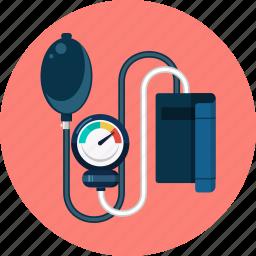 blood, doctor, health, medical, medicine, pressure, sphygmomanometer icon