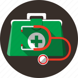 aid, briefcase, doctor, first, medicine, stethoscope icon