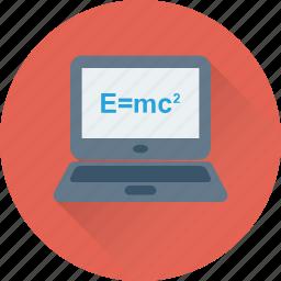 emc2, formula, physics, relativity, science icon