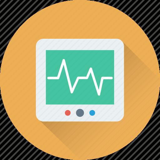 cardiology, device, ecg, ecg machine, ekg icon