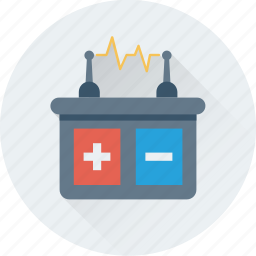 automobile, battery, car battery, power, supply icon