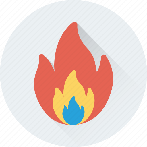 danger, fire, flame, flammable, warning icon
