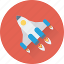 spacecraft, startup, spaceship, rocket, missile icon