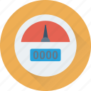 barometer, dashboard, gauge, indicator, speedometer icon