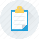 blog, article, journal, clipboard, notes icon
