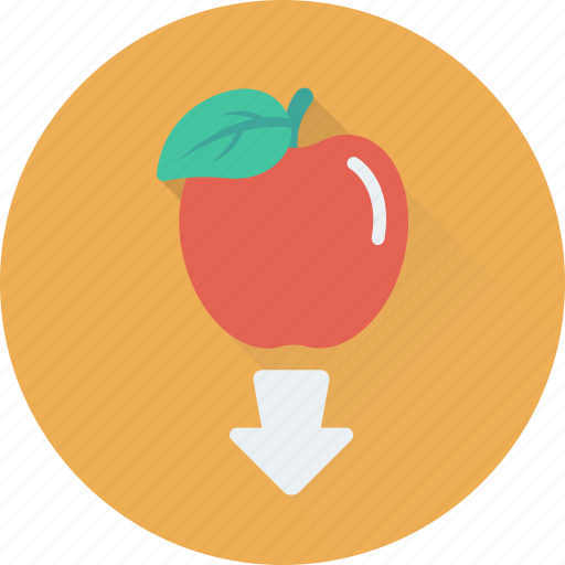 apple, experiment, gravity, nutrion, science icon