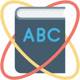abc, atom, book, english book, science book icon