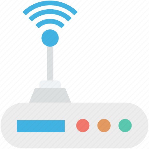 internet device, wifi modem, wifi router, wifi signals, wireless internet icon