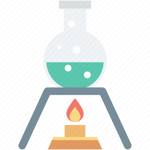 conical flask, flask, lab experiment, lab research, spirit lamp icon