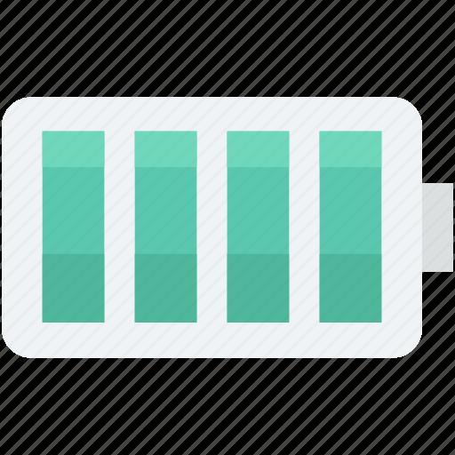 battery charging, battery level, battery status, full battery, power icon