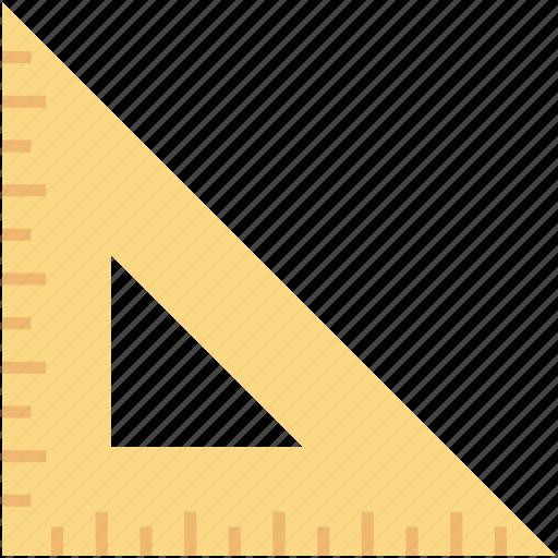 degree square, drafting tool, drawing, geometry tool, set square icon