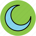 crescent, crescent moon, moon, new moon, satellite icon