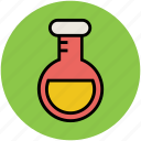 beaker, lab flask, lab test, laboratory equipment, science lab instruments icon