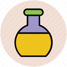 beaker, chemical, lab flask, lab test, laboratory equipment, science lab instruments icon