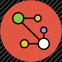atom circles, carbon, cell, molecular configuration, molecule, nitrogen, oxygen icon
