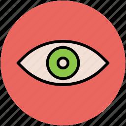 eye, human eye, search, view, visibility, visible, vision icon
