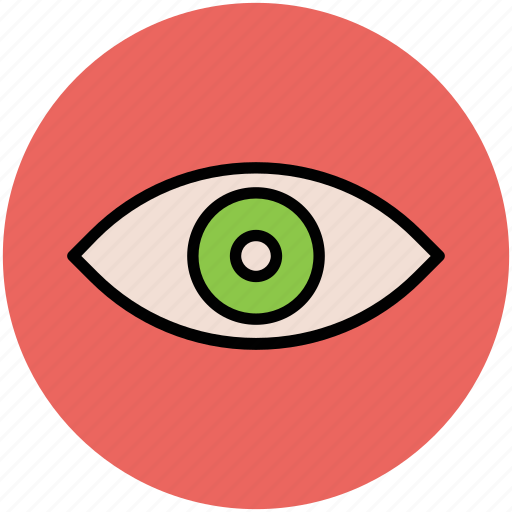 eye, human eye, search, view, visibility, visible, vision icon