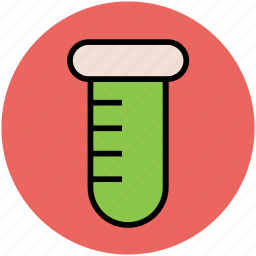 beaker, culture tube, lab glassware, laboratory, sample tube, science, test tube icon