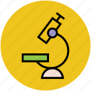 lab instrument, magnifying, medical equipment, microscope, research, research tool, science icon